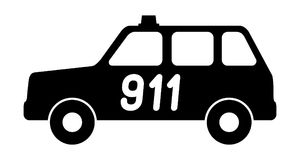 The car service is 911. The car service is 911 Vector illustration royalty free illustration