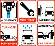 Car service vectror signs Stock Images