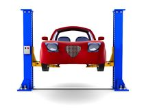 Car service on white background. Isolated 3D illustration Royalty Free Stock Photos