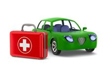 Car service on white background. Isolated 3D illustration.  Stock Photography