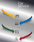 Car services cover page booklet arrows concept02 stock illustration