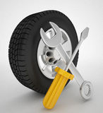 Car services icon. 3d high quality render Stock Photo