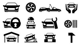 Car services icons Royalty Free Stock Image