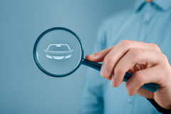 Car services. Looking for car services - insurance, bureaucracy, car showroom, car seller etc Stock Images