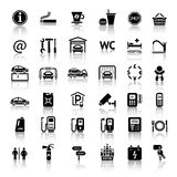 Car services. And Repair 36 icons. Vector illustrations, silhouettes  on white background Stock Image