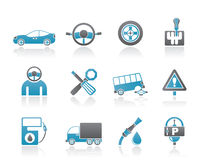 Car services and transportation icons Stock Images