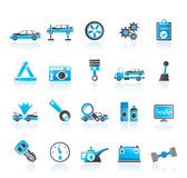 Car services and transportation icons Royalty Free Stock Photos