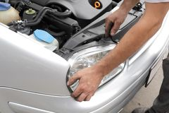 Car servicing Royalty Free Stock Images