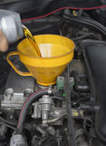 Car servicing lubricant oil engine. Stock Images