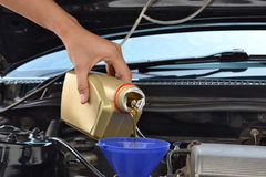 Car servicing mechanic stock photo