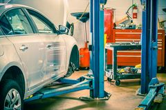Car Servicing Station Royalty Free Stock Photos