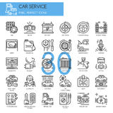 Car serviec , thin line icons set Stock Photography