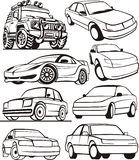 Car set royalty free illustration