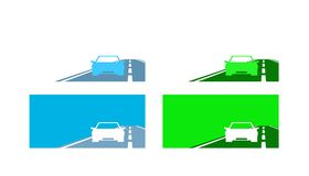Car set. Set of four car pictures. Vector available Stock Photo