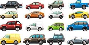 Car set Royalty Free Stock Photos