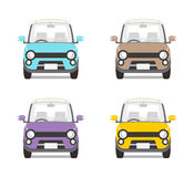 Car set Four colors -Front view Stock Photo