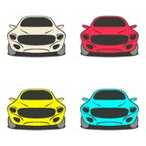 Car set four colors Royalty Free Stock Photo