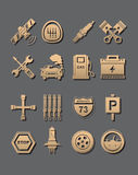 Car set of icons Royalty Free Stock Images