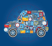 Car Shape Concept Background Stock Photography