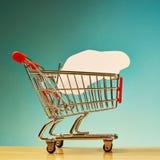Car shape inside shopping cart Stock Image