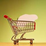 Car shape inside shopping cart Stock Photography