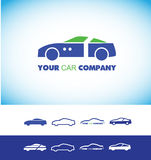 Car shape logo Royalty Free Stock Photos