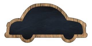 Car shaped blackboard Royalty Free Stock Photos
