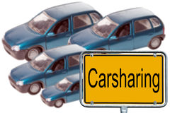 Car sharing Fotografia Stock Libera da Diritti