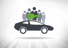 Car sharing Immagine Stock