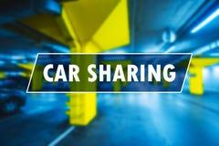 Car sharing or carsharing concept Royalty Free Stock Photo