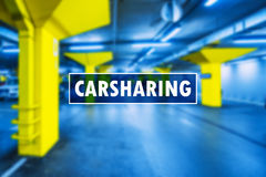 Car sharing or carsharing concept Royalty Free Stock Photography
