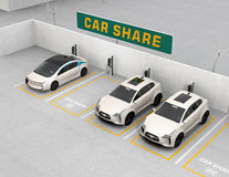 "Car sharing concepï½"". Car sharing concept. 3D rendering image stock illustration"