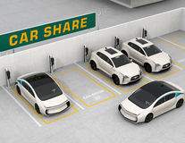 Car sharing concept. Car sharing concept. 3D rendering image Stock Photography