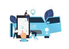 Car sharing concept banner. vector illustration