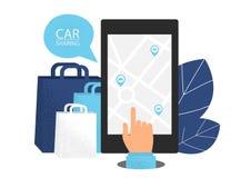 Car sharing concept. vector illustration