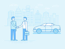 Car sharing concept - new model of car rental service Stock Photo
