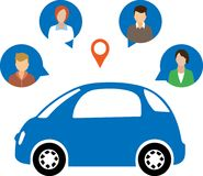 Car Sharing Concept. Social travel concept royalty free illustration