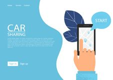Car sharing service concept. stock illustration