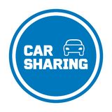 Car sharing sign with car icon. Vector illustration royalty free illustration
