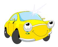 Car shine. Beautiful cartoon car with shine stock illustration