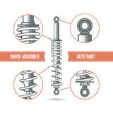 Car shock absorber icon Royalty Free Stock Photography
