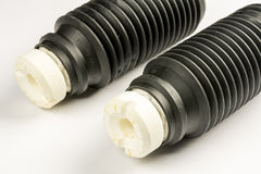 Car shock absorber protection rubber for dust and dirt.  Stock Image