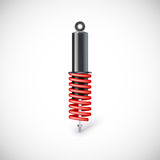 Car shock absorber and spring. Royalty Free Stock Image