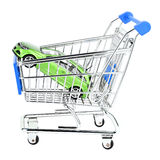 Car shop cart Stock Image