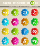 Car shop icon set. Car shop  icons for user interface design Royalty Free Stock Image