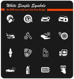 Car shop icon set Stock Photography