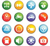 Car shop icon set. Car shop  icons for user interface design Stock Image