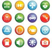 Car shop icon set Stock Image