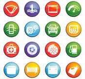 Car shop icon set. Car shop  icons for user interface design Royalty Free Stock Photography