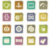 Car shop icon set. Car shop  icons for user interface design Royalty Free Stock Photo